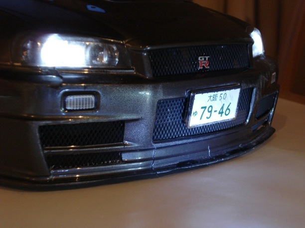 rc car nissan skyline gtr r34 drift 1:24